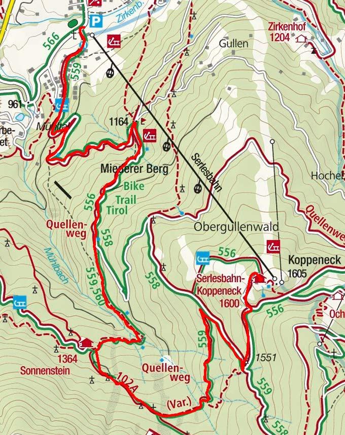 Wildtier-Lehrpfad zum Alpengasthof Sonnenstein