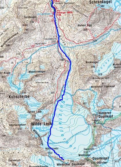 Windacher Daunkogel (3310 m) von Gries