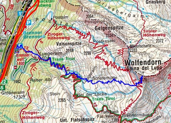 Wolfendorn (2776 m) vom Gasthof Wolf