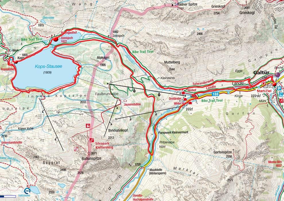 Alpengasthof Zeinisjoch mit Kopssee-Umrundung von Galtür