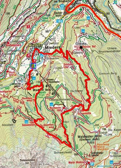 Zirkenhof - Alpengasthof Sonnenstein Rundtour