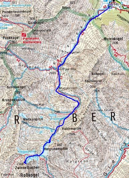 Zwieselbacher Rosskogel (3081 m) von Haggen