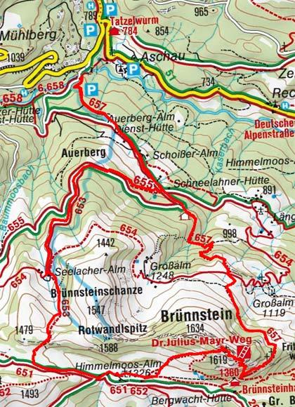 Brünnstein (1634 m) vom Waldparkplatz/Tatzelwurm