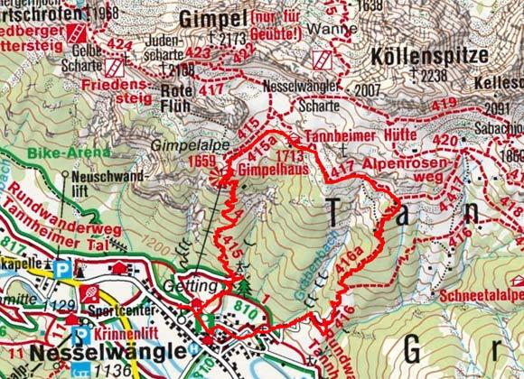 Gimpelhaus - Tannheimer Hütte Rundwanderung