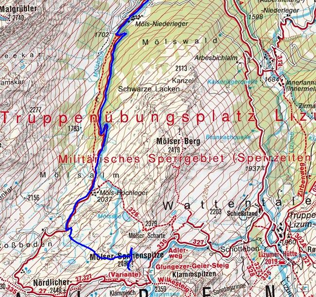 Skitour auf Lizumerhütte mit Gipfel Mölser Sonnenspitze (2496m) und Skispitzl (2450m)