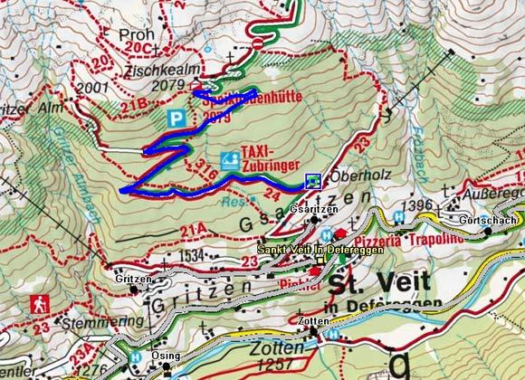 Oberholz / Speikbodenhütte - Naturrodelbahn
