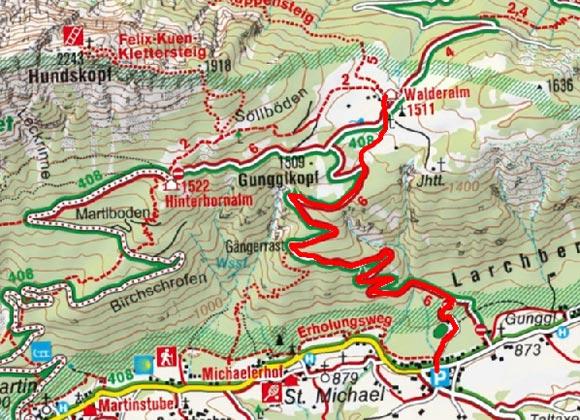Walderalm von Gnadenwald