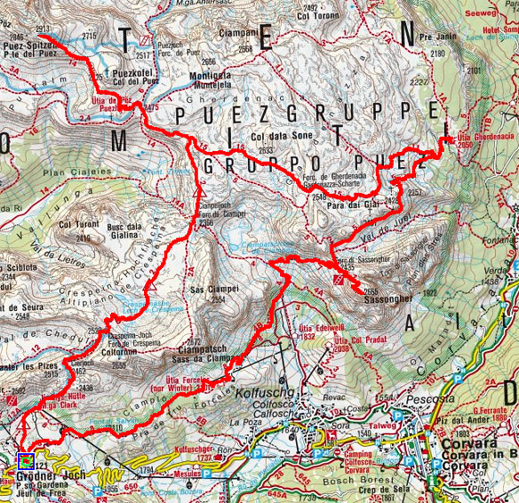Gardenacia 2-Gipfel Rundtour (2 Tage)