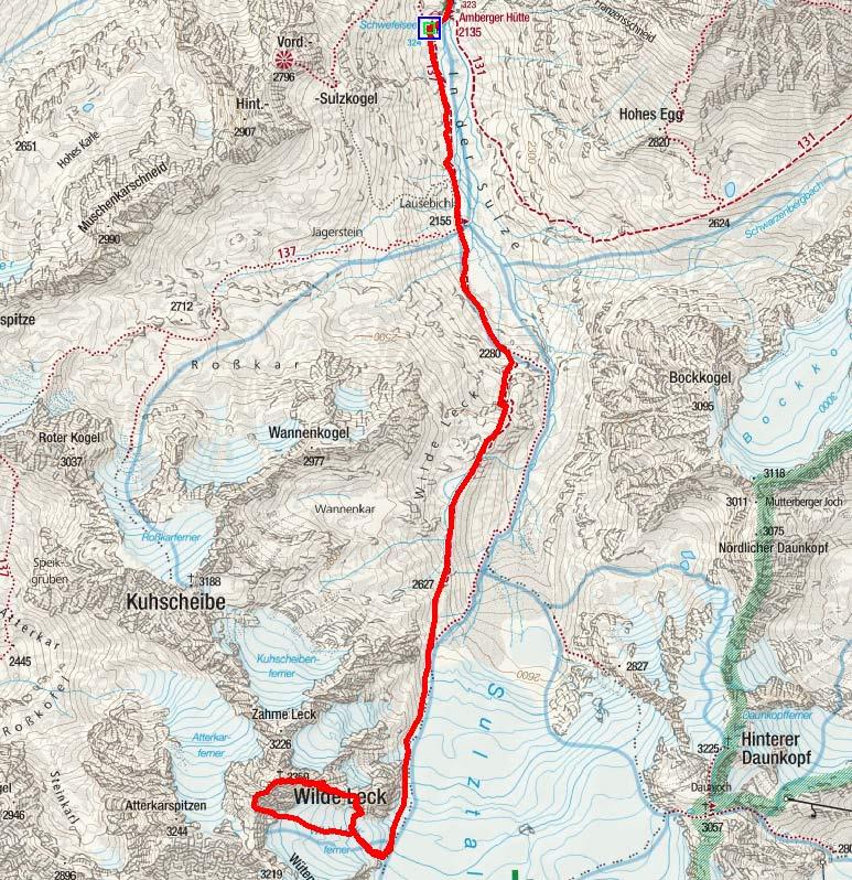Wilde Leck (3359 m) von der Amberger Hütte