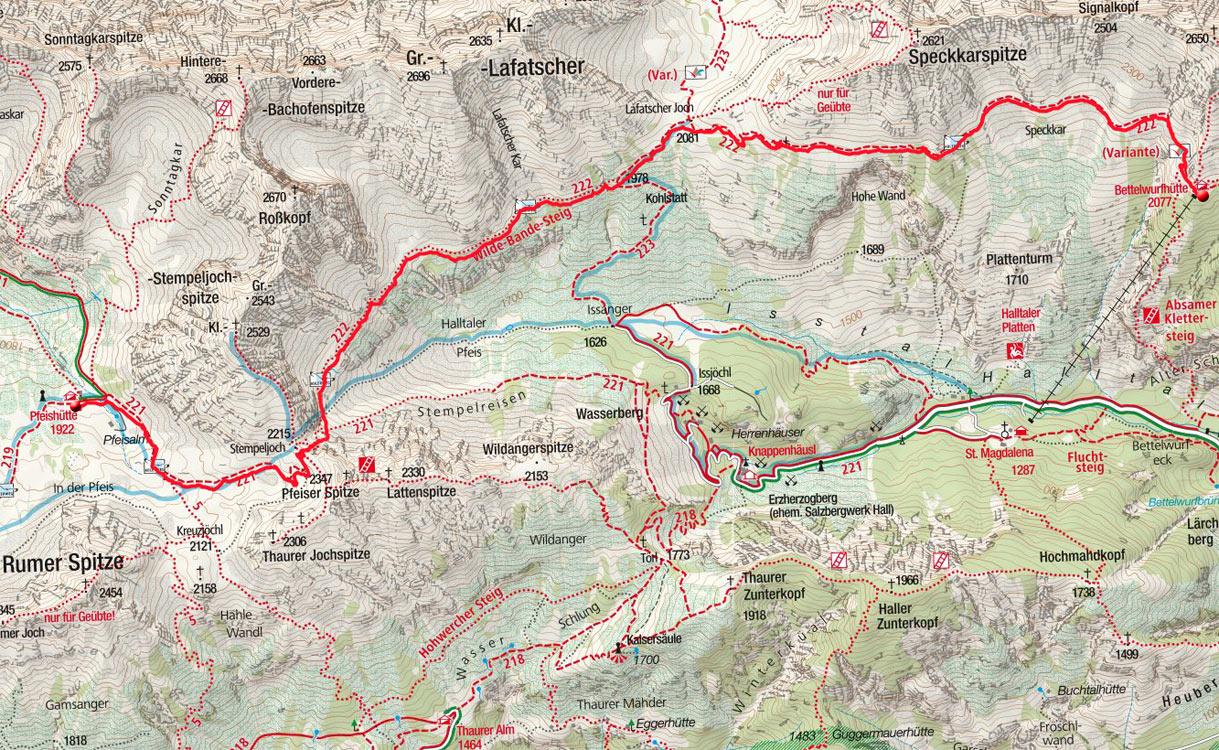 Tag 2: Pfeishütte – Stempeljoch – Lafatscherjoch - Bettelwurfhütte