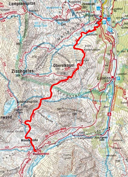 Sellrainer Hufeisentour (4 Etappen) - Tag 1