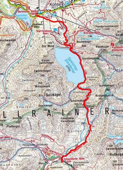 Sellrainer Hufeisentour (4 Etappen) - Tag 4