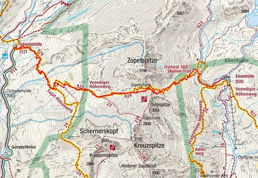 Tag 3: Eisseehütte – Zopetscharte - Johannishütte