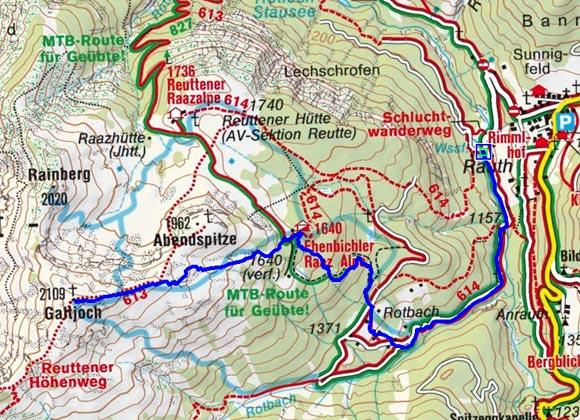 Galtjoch, 2.109m von Rinnen bei Berwang