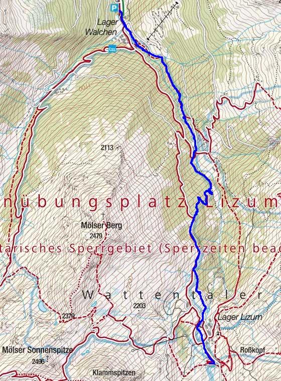 Skitour auf Lizumerhütte (2019 m) in Tuxer Alpen