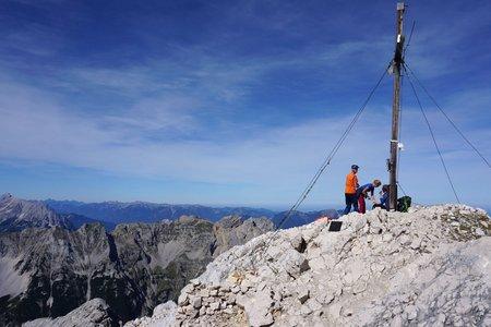 Pleisenspitze (2569m) von der Isarlodge Wiesenhof