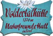 Logo Voldertalhütte, 1376 m - Voldertal