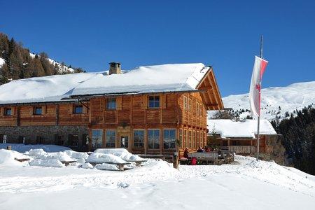 Schutzhütte Kreuzwiesenalm – Winterwanderweg von Ellen im Pustertal