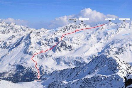 Östliche (Dritte) Veneziaspitze, 3356 m – Skitour von der Zufallhütte