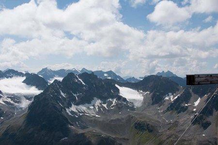 Westliches Gamshorn (2987 m) von der Jamtalhütte