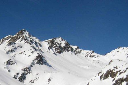 Kraspesspitze (2954 m) vom Weiler Haggen