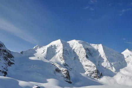 Piz Palü (3901 m) von der Diavolezza–Bergstation