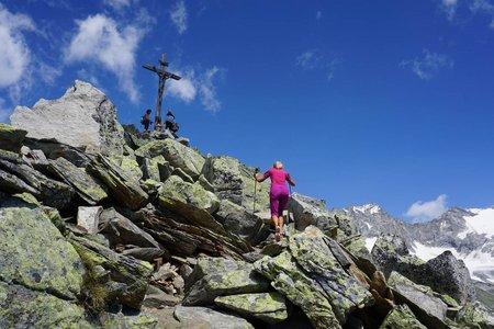 Kreuzkofel (2420m) vom Berggasthof Stallila