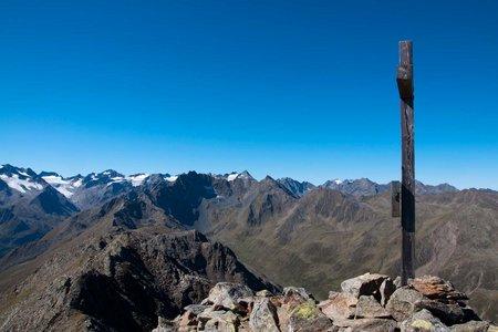Schwarzhorn (2812 m) vom Alpengasthof Bergheim Fotsch