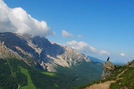 Rotwandhütte (2280 m) von der Paolinahütte
