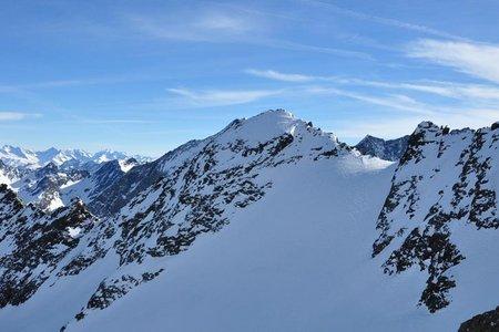 Roßkarscharte (3053 m) von der Pforzheimer Hütte