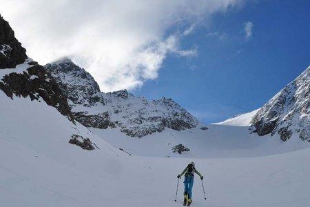 Östliche Seespitze (3416 m) von der Franz Senn Hütte