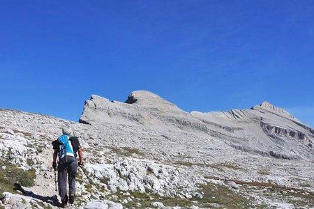Heiligkreuzkofel-Zehnerspitze (2907/3026 m) von der Lavarellahütte