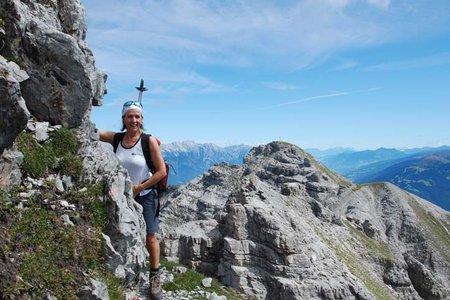Ampferstein und Marchreisenspitze (2556/2620 m) aus der Axamer Lizum