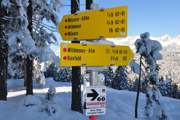 Besondere Schneeschuh-Wanderregionen in Tirol