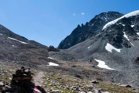 Futschölpass (2768 m) von der Jamtalhütte