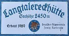 Logo Langtalereckhütte, 2480 m - Obergurgl