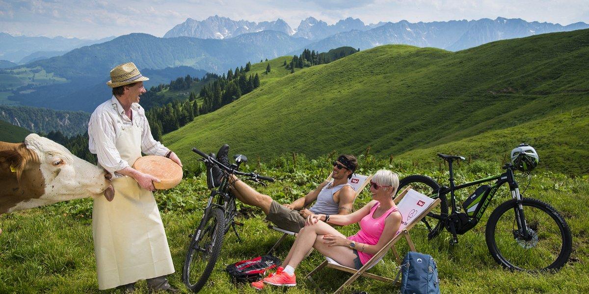 Genussvolles Biken & Hiken in der Genussregion Kaiserwinkl (c) TVB Kaiserwinkl