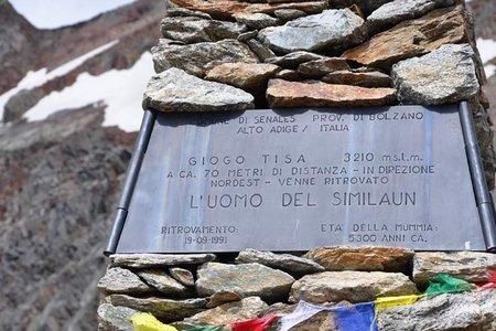 Ötzi-Fundstelle (3210 m) von der Similaunhütte