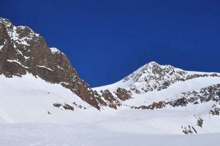 Schalfkogel (3537 m) von der Martin Busch Hütte