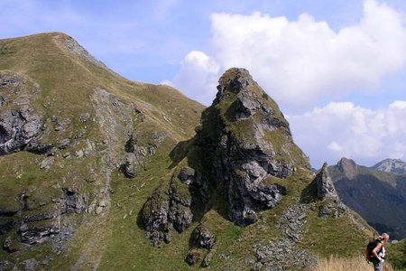 Bischof-Sonnspitze (2127 m/2062 m) vom Wildpark Aurach