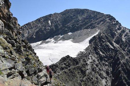 Warenkarseitenspitze (3345 m) von der Fiegl's Hütte