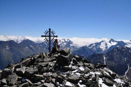Kreuzspitze (3084 m) von der Neuen Regensburger Hütte