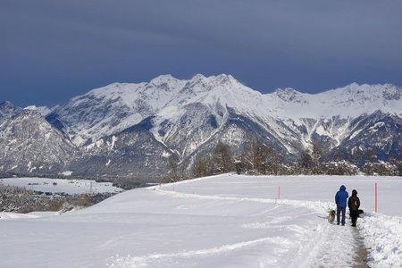 Winterwanderweg Gletscherblick bei Igls