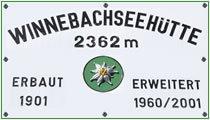Logo Winnebachseehütte, 2362 m - Gries/Sulztal