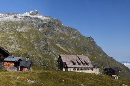 Neue Fürther Hütte (2201 m) aus dem Hollersbachtal