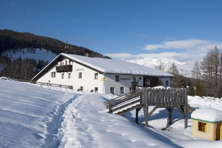 Alpengasthaus Stockerhof von Telfes über die Telfer Wiesen