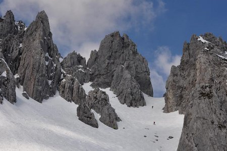 Goinger Törl (2150 m) von der Griesneralm