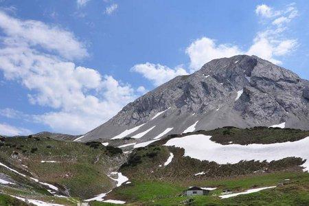 Rumerspitze (2454 m) von der Pfeishütte