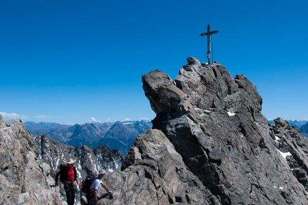 Dreiländerspitze (3187 m) von der Jamtalhütte