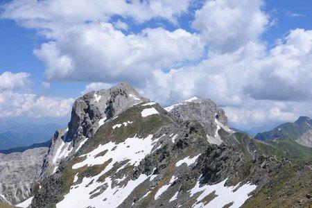 Kinigat-Pfannspitze (2689/2678 m) 2 Gipfelrundtour von Rauchenbach